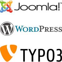 Webprojekte mit den Content Management Systemen Joomla!, WordPress, TYPO3